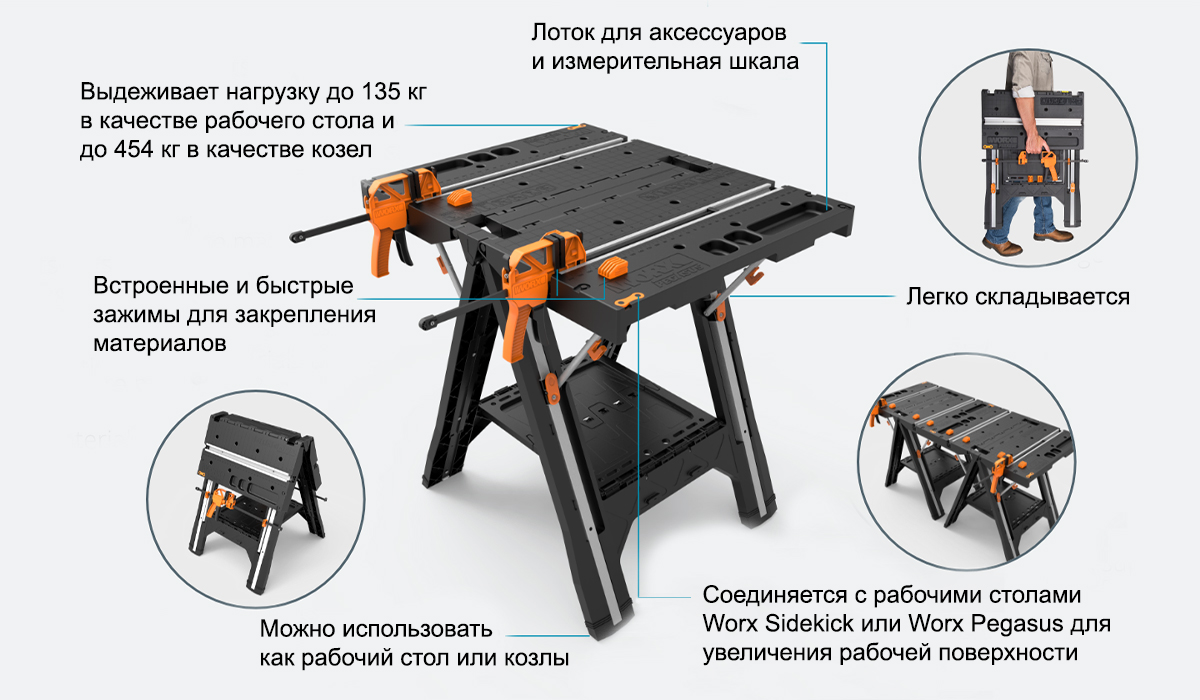 Рабочий стол WORX WX051 Pegasus