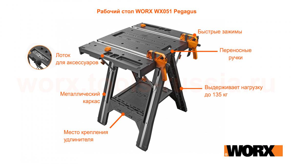 Рабочий стол WORX WX051 Pegagus