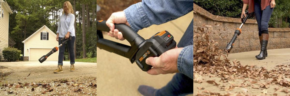Воздуходувка WORX WG543E 20V имеет регулировку скоростей для возможности контроля воздушного потока и удобную ручку для работы и переноски. Мощности этой модели хватит и для уборки в вашем саду и для наведения чистоты в помещении. Компактная и легкая воздуходувка покорит вас непревзойденной работой!
