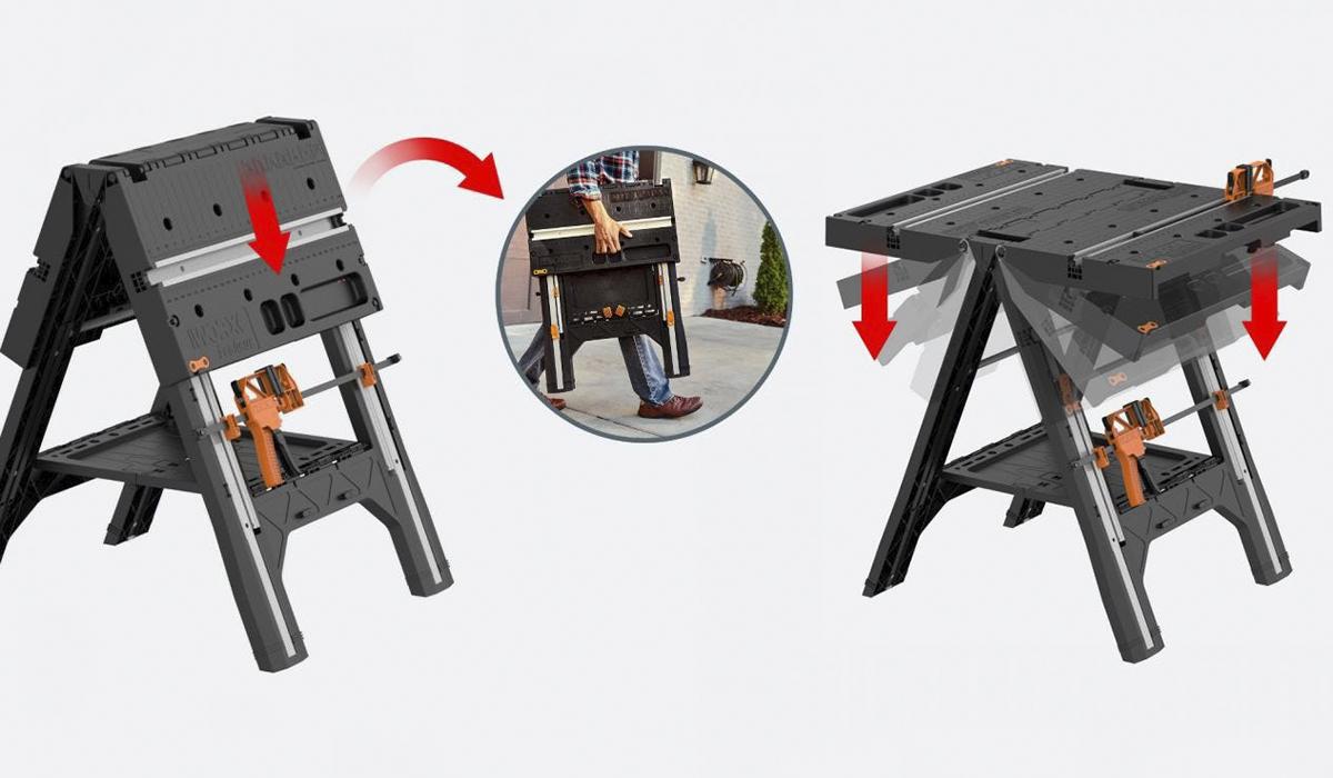 Стол имеет складную конструкцию и легкий вес – 13.5 кг, что создаёт дополнительные удобства для его транспортировки и хранения.