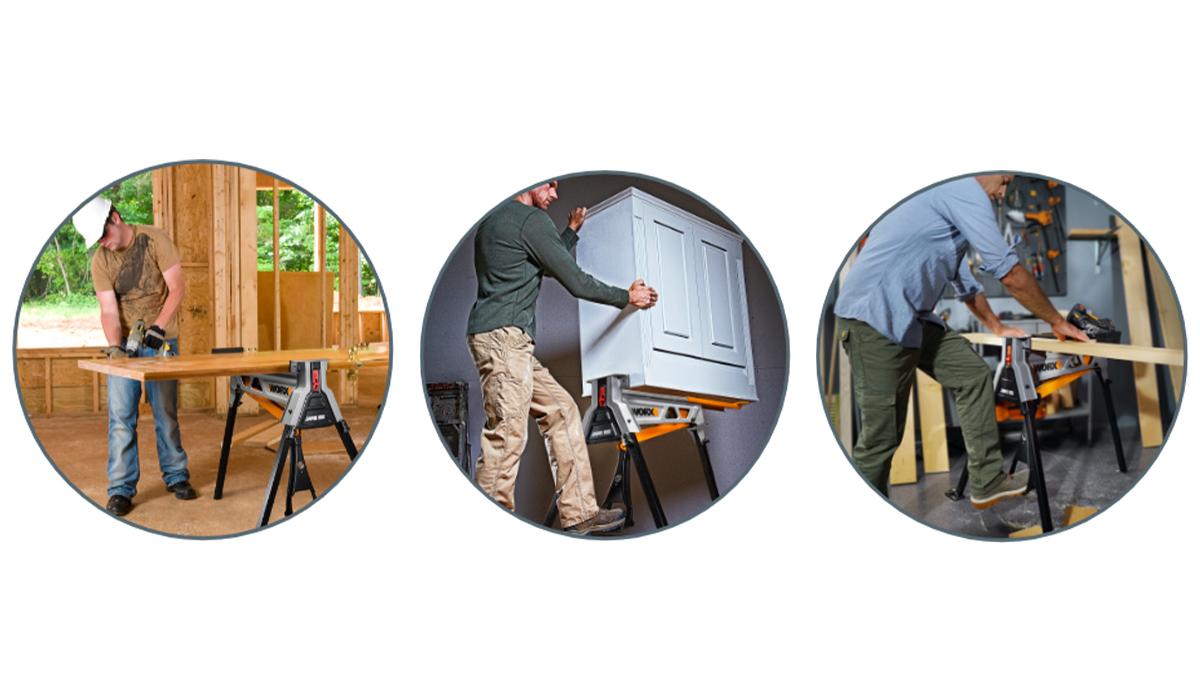 Используйте WORX JAWHORSE WX060 в мастерской, на улице, для строительных и бытовых нужд.