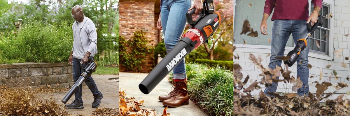 Воздуходувки и садовые пылесосы WORX для разных задач
